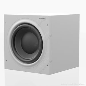 3d max subwoofer bowers wilkins white