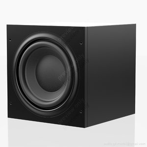 subwoofer bowers wilkins black 3d model