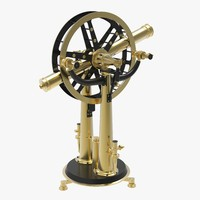 antique altitude azimuth instrument 3d model