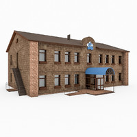 3d city office building model