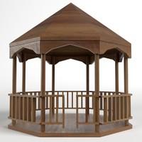 3d model garden kiosk outdoor pavilion