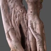 3d road tree scanned trunk