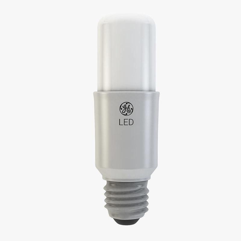 ge led stick bulb 3d model