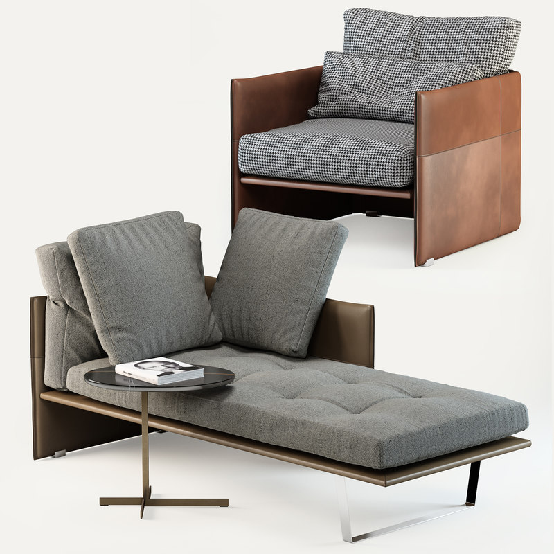 Minotti Luggage Couch Model