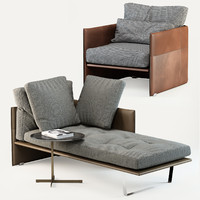 minotti luggage couch 3d model