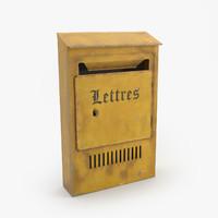 3d old vintage mail box