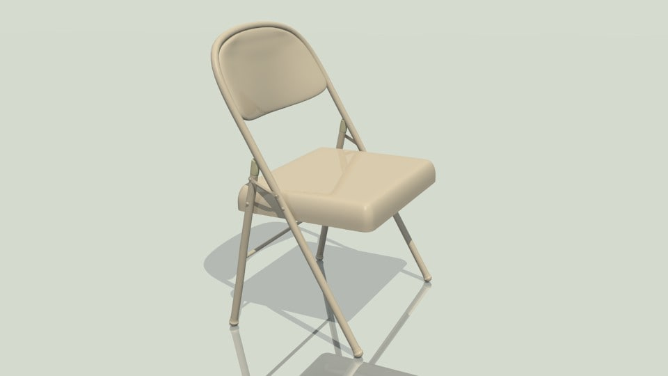 3d folding chair model