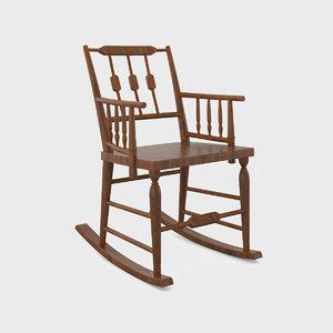 3d chestertown rocking chair