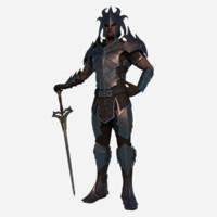 c4d medieval guardian