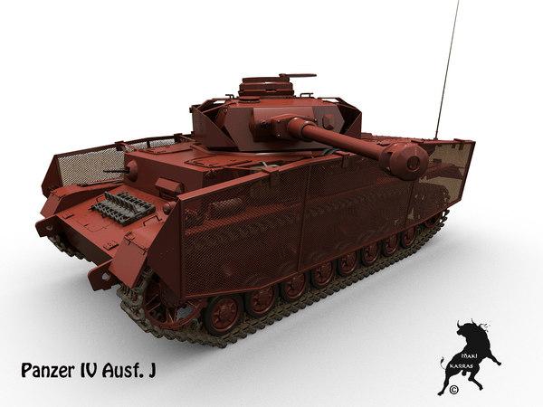 ausf j panzer 3d model