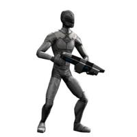 3d model gun man