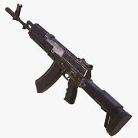 3d kalashnikov assault rifles