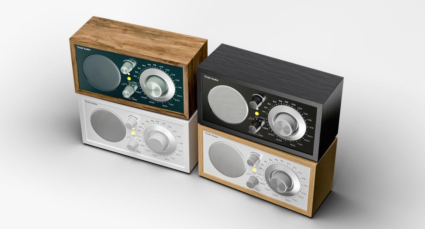 tivoli radio kloss 3d model