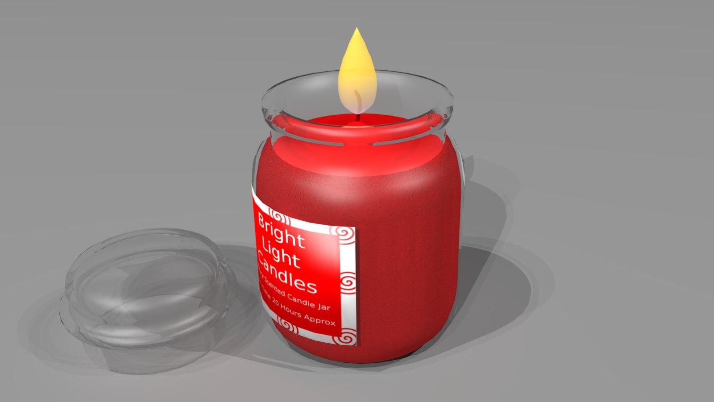 3d candle jar