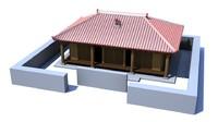 house okinawa 3d obj