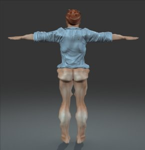 3d model worker rigged