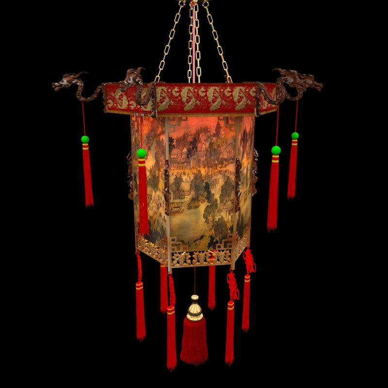 3d chinese palace lanterne