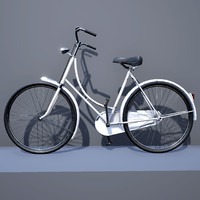 dutch bicycle bike 3d x