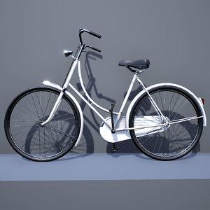 dutch bicycle bike 3d x
