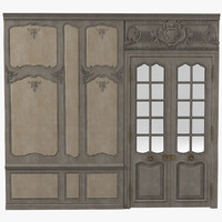 3d baroque victorian wall model