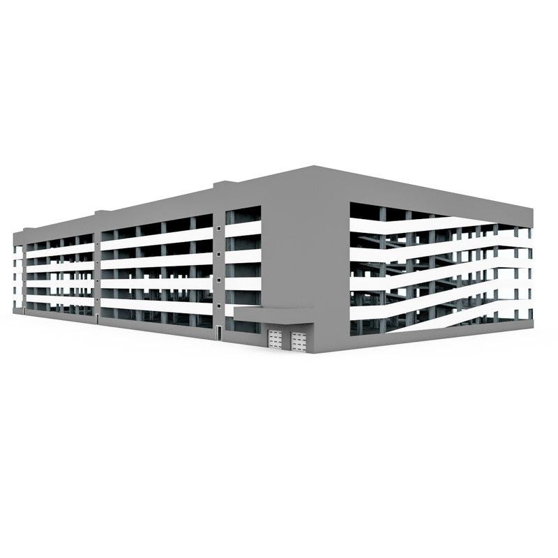 3d auto car parking model