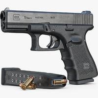 gun glock 19 gen 3d model
