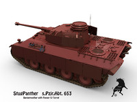 german panther 3d model