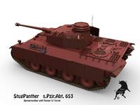 german panther 3d model