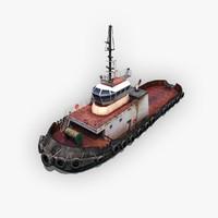 tugboat tug 3d fbx