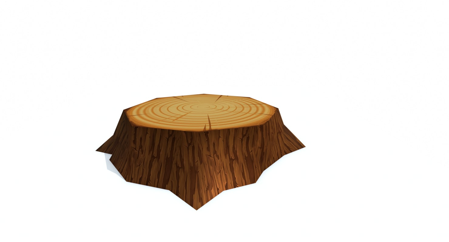 3d model wood stump