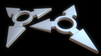 printable ninja shuriken fidget 3d model