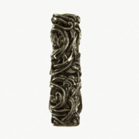 medieval column brass 3d model