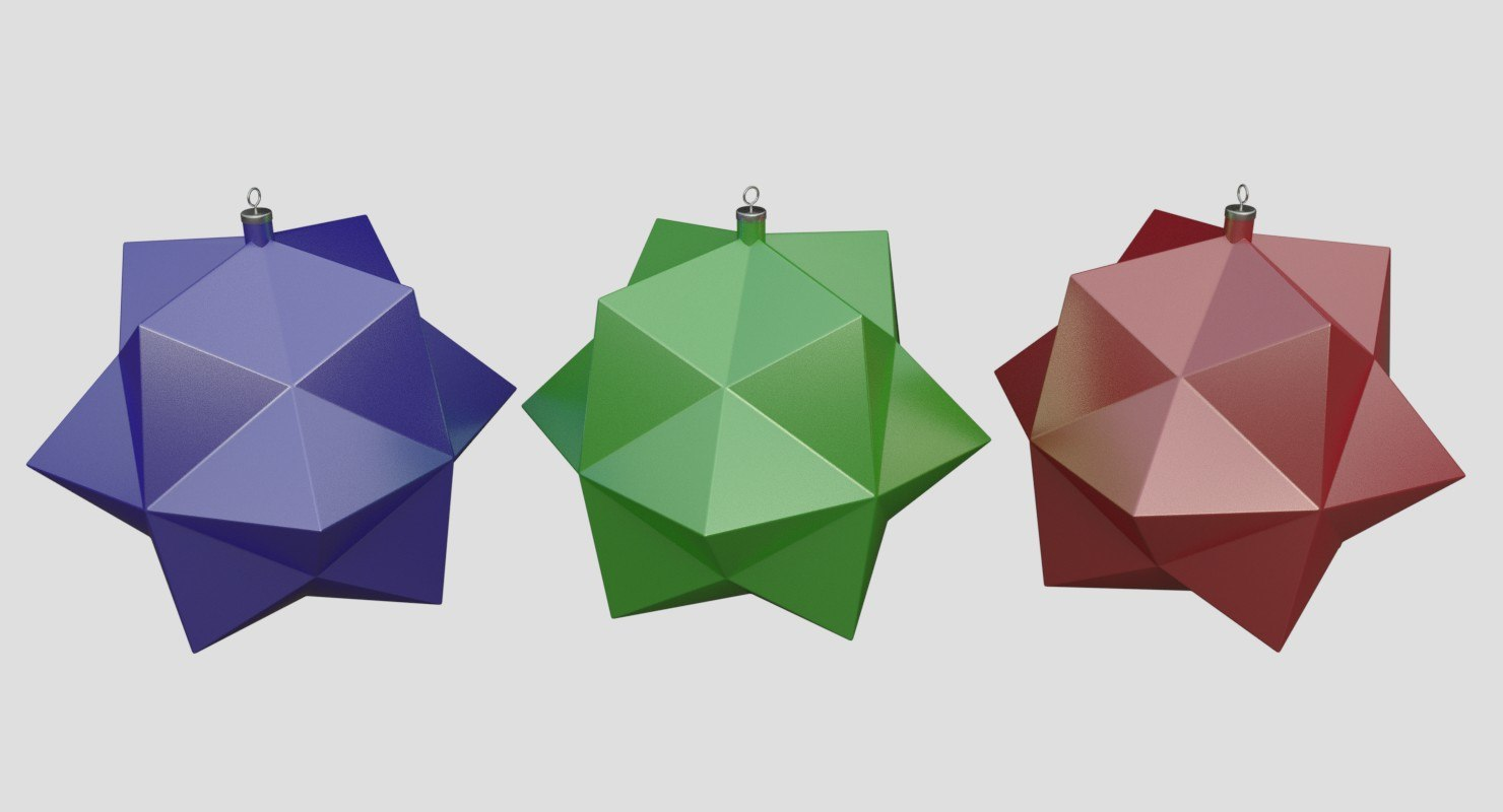3d christmas tree toy model
