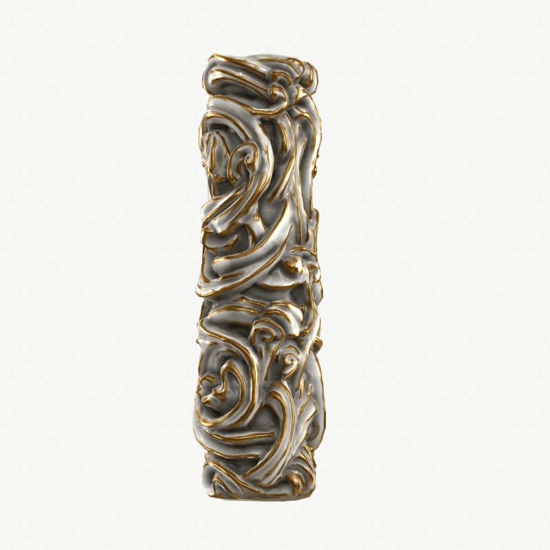 medieval column golding 3d model