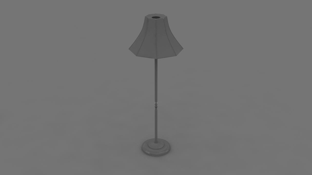 free 3ds model lamp basic