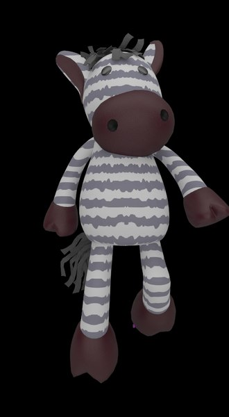 3d zebra toy rigged