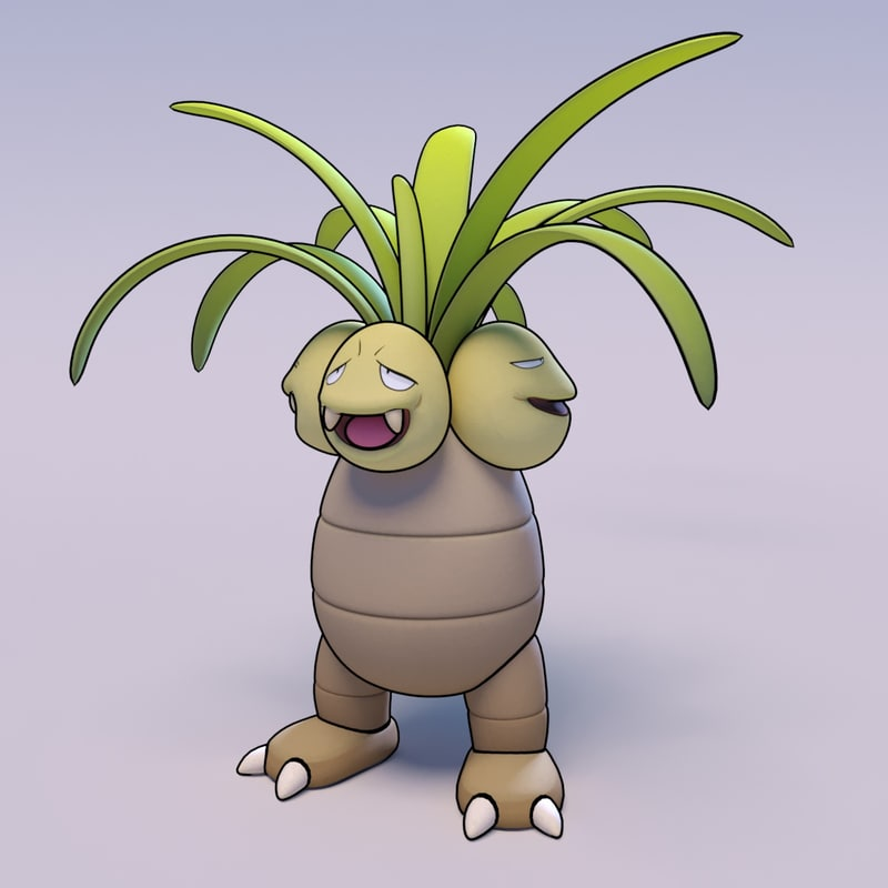 exeggutor pokemon 3d 3ds