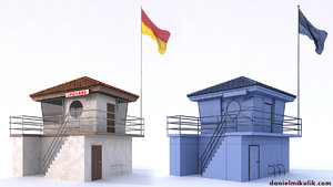 3d model building lifeguard