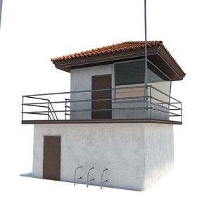 3d model building lifeguard