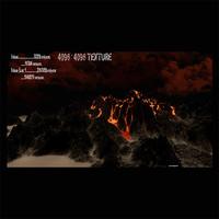 volcano 3d obj