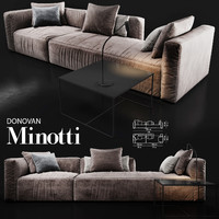 sofa minotti donovan 3d model