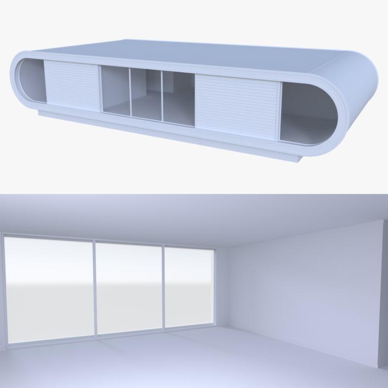 modern house interior 3d model