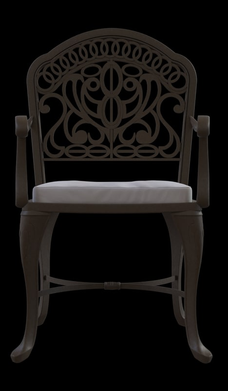 3d max tuscany chair bronze