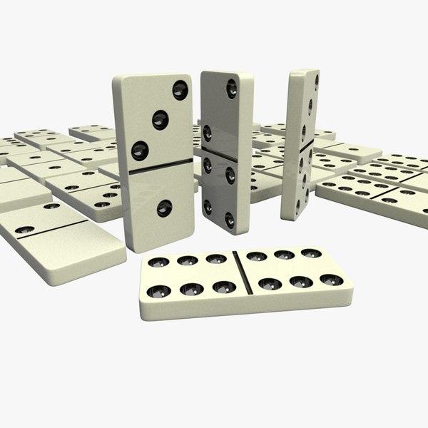 dominoes 3d fbx