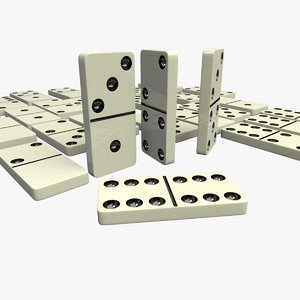 dominoes 3d fbx