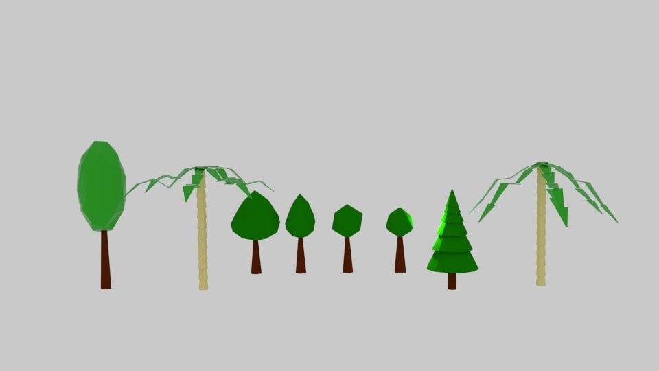 tree pack 3d model