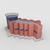 3d building real model
