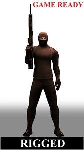 3d police swat model
