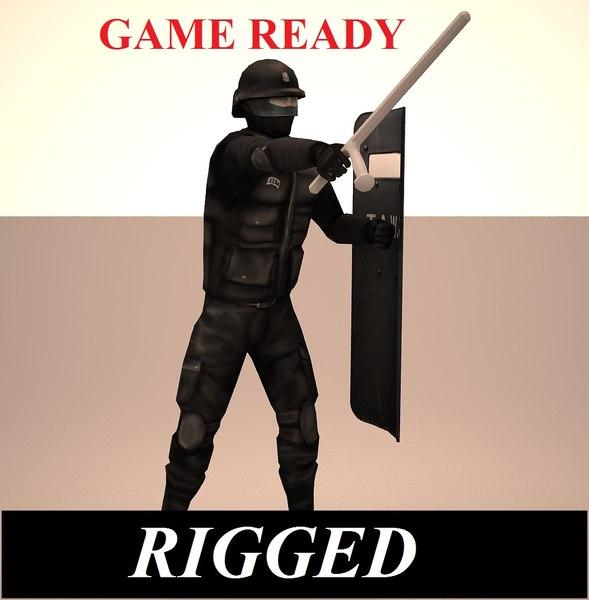 swat man 3d model