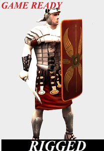 3d roman soldier model